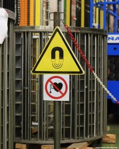 Pericolo!! Campi magnetici elevati